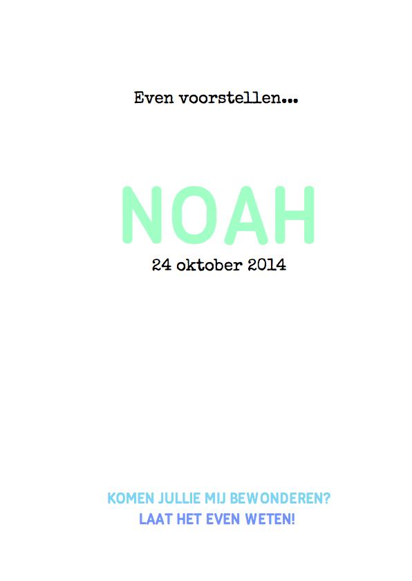 Geboortekaartje grafisch Noah 3