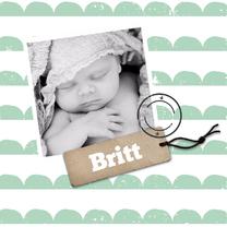 Geboortekaartjes - Geboortekaartje groene maantjes