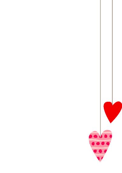 Geboortekaartje hangende hartjes 3