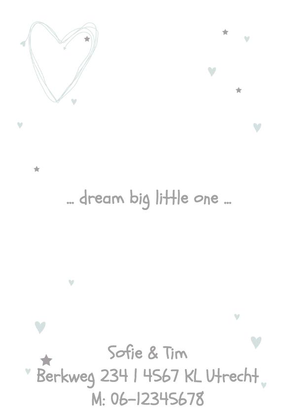 Geboortekaartje hart eenvoudig J 2