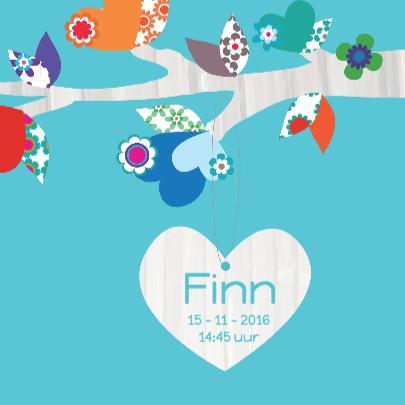 Geboortekaartje Hart Finn 3
