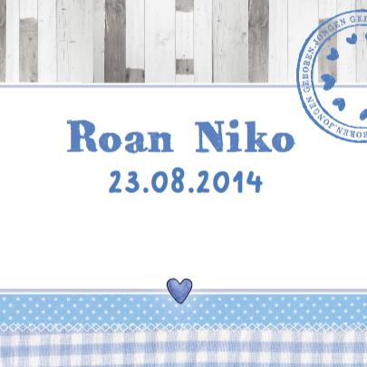 Geboortekaartje  hart foto Roan 3