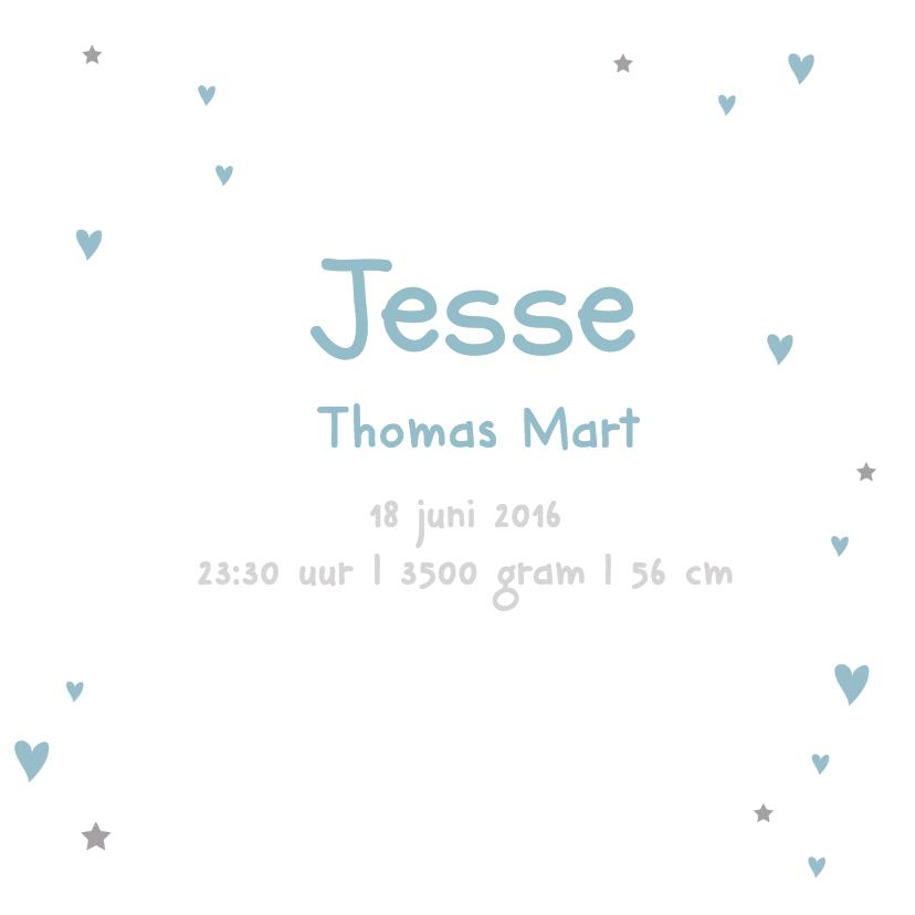 Geboortekaartje hart Jesse 3