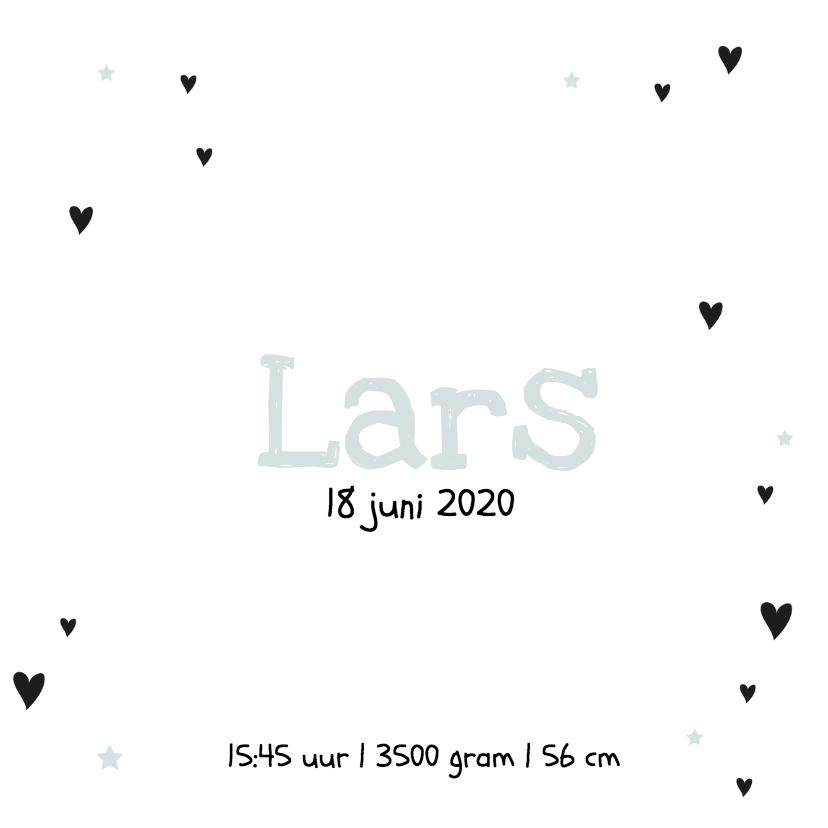 Geboortekaartje Hart Lars 3