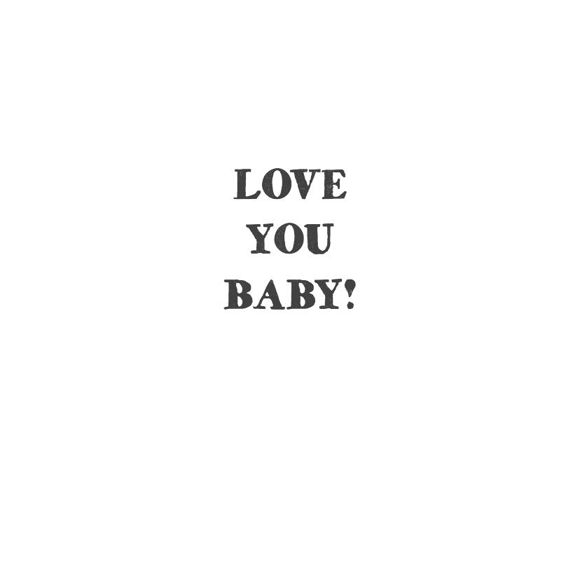 Geboortekaartje hart zwart wit 2