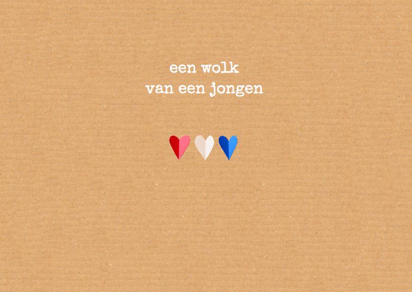geboortekaartje hartjes Holland 2