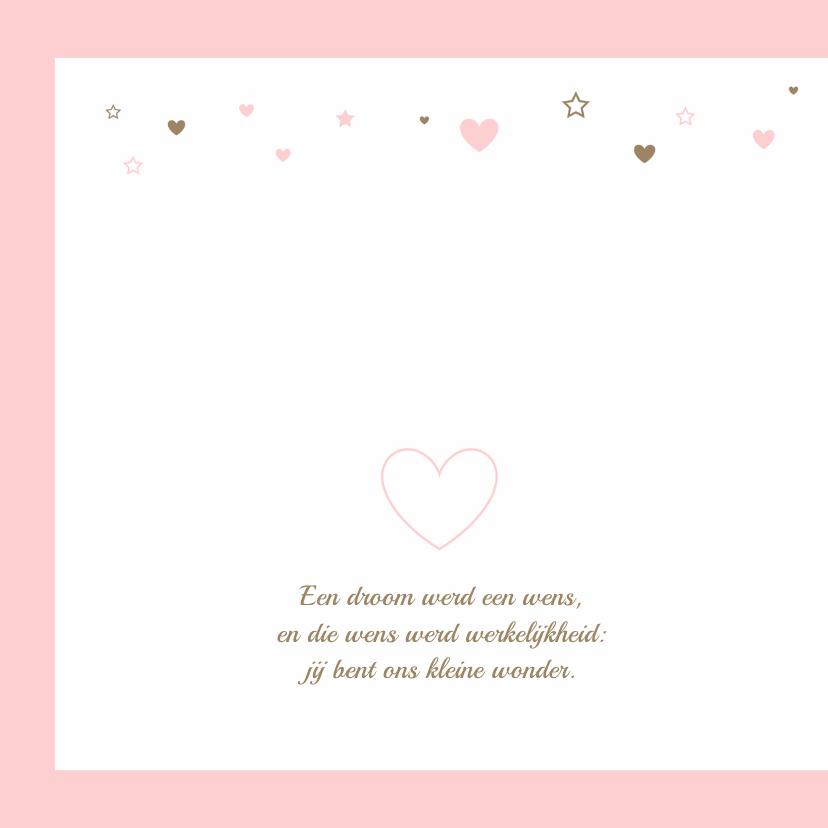 Geboortekaartje hartjes meisje 2