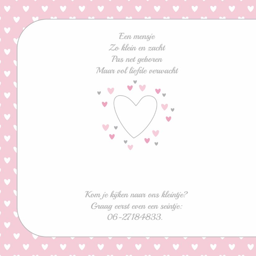 Geboortekaartje hartjes Yara 2