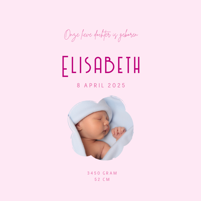 Geboortekaartje Hertje Hart Lief 3