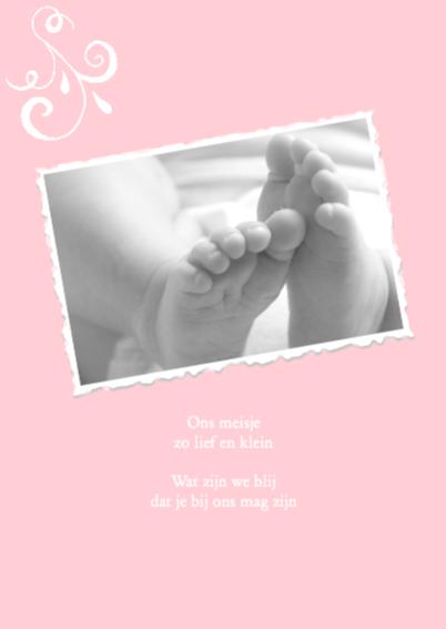 Geboortekaartje Hey baby girl 2