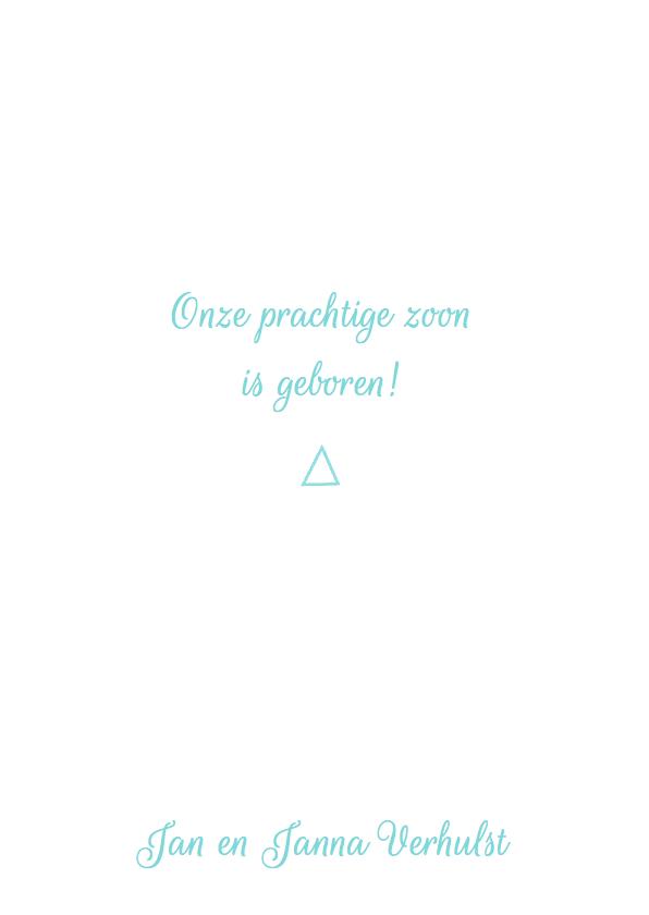 Geboortekaartje hip boy driehoek 2