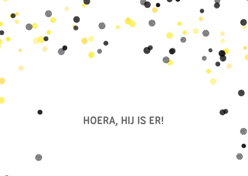 Geboortekaartje hip confetti 2