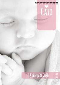 Geboortekaartje hip foto label
