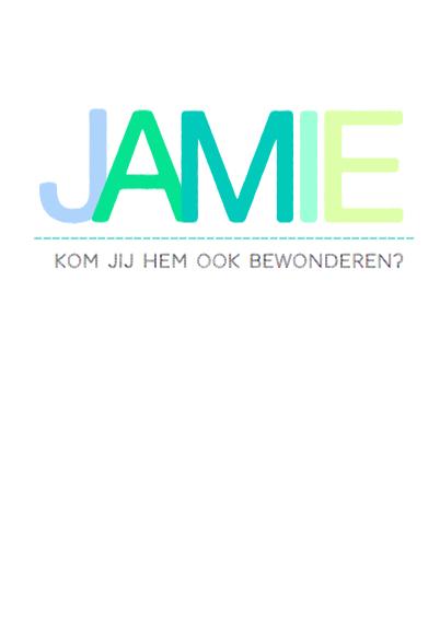 Geboortekaartje hip fris Jamie  3