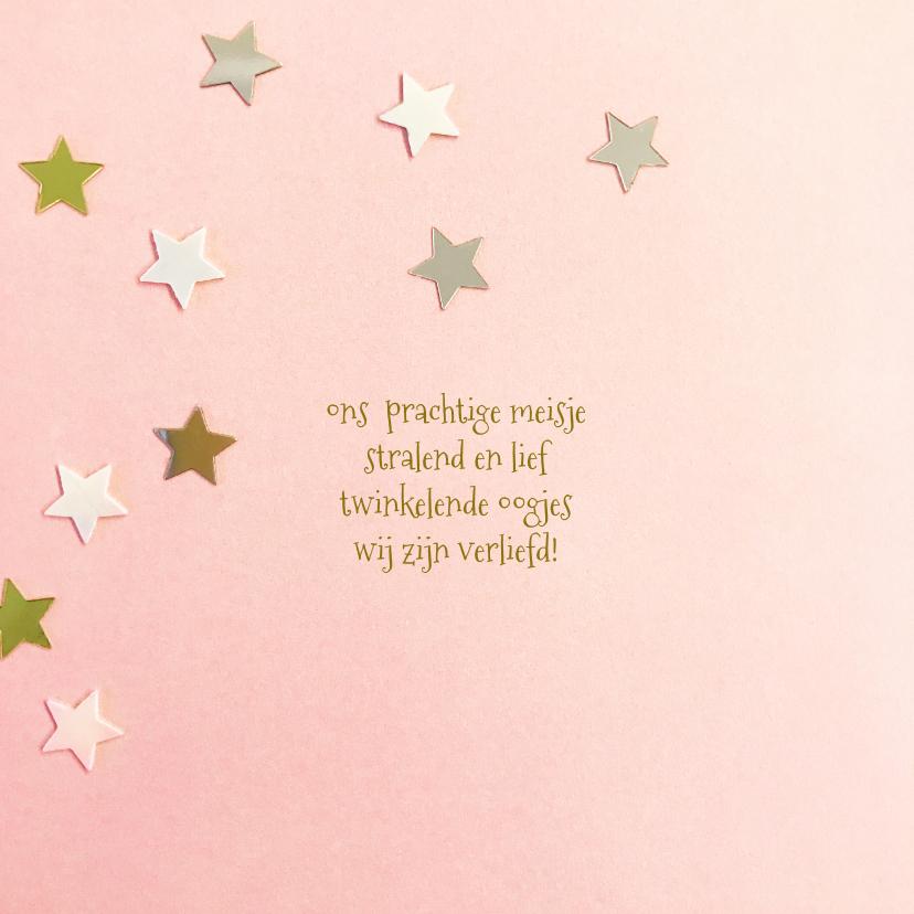Geboortekaartje hip goud ster 2