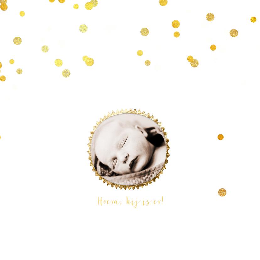 Geboortekaartje hip goud wolk 2