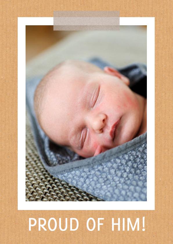 Geboortekaartje hip karton boy 2