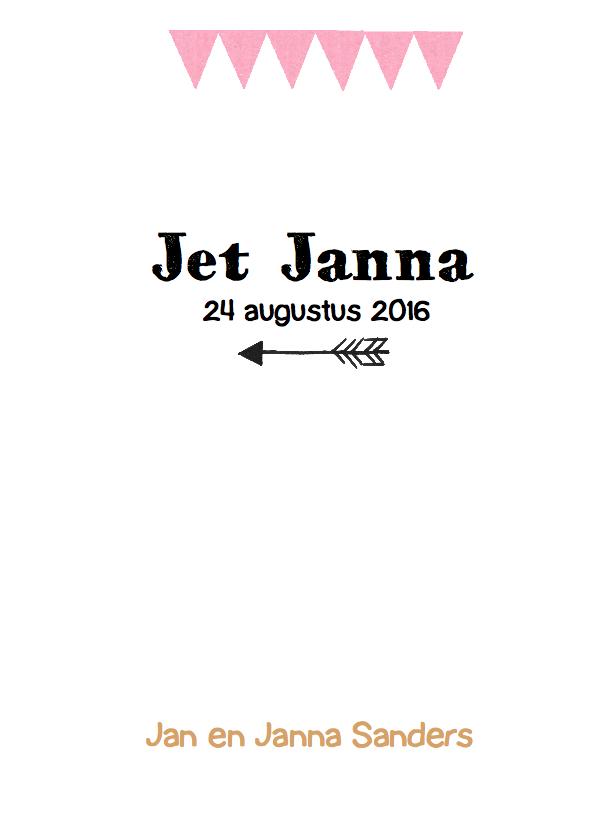 Geboortekaartje hip karton Jet 3