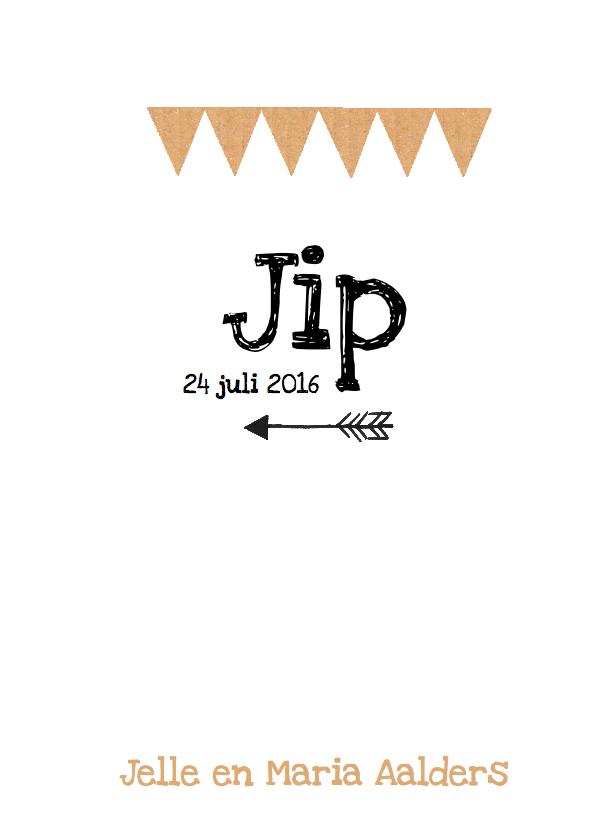 Geboortekaartje hip karton Jip 3