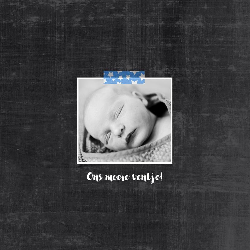 Geboortekaartje hip schoolbord 2
