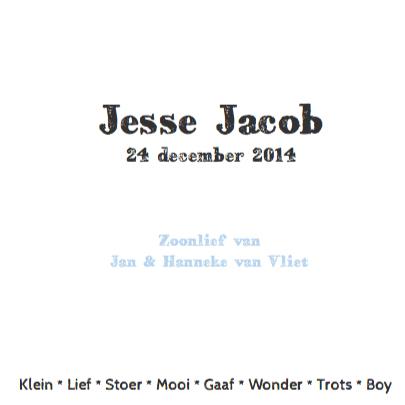 Geboortekaartje hip stoer Jesse 3