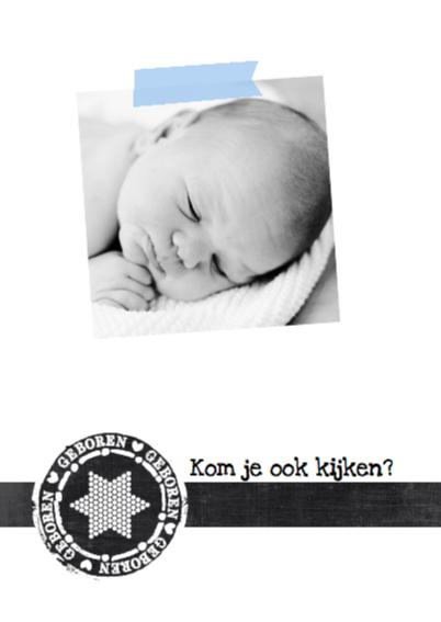 Geboortekaartje hip stoer Jonas 2