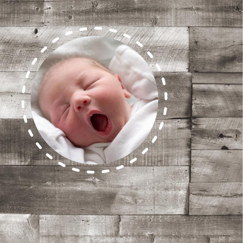 Geboortekaartje Hout Hartje 1LS3 2