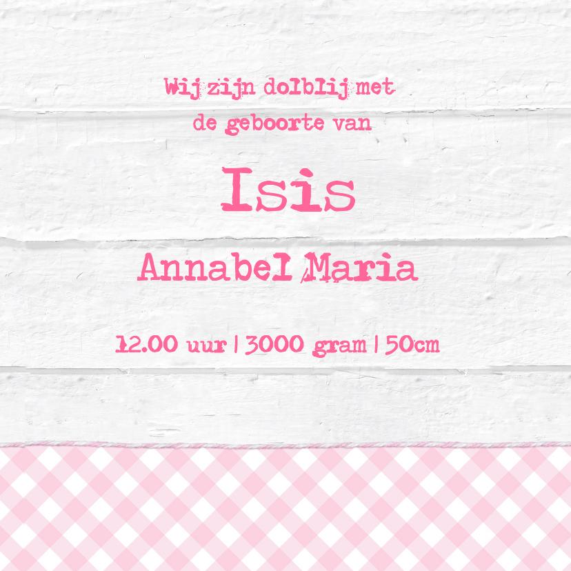 Geboortekaartje Houten Hart Label Isis 3
