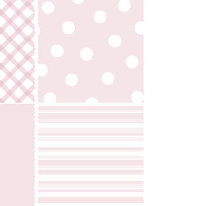 Geboortekaartje Houten hart roze 2