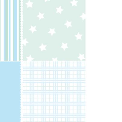 Geboortekaartje Houten ster blauw 2
