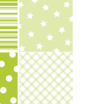 Geboortekaartje Houten ster groen 2