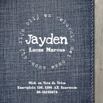 Geboortekaartje Jayden hout - LOVZ 3