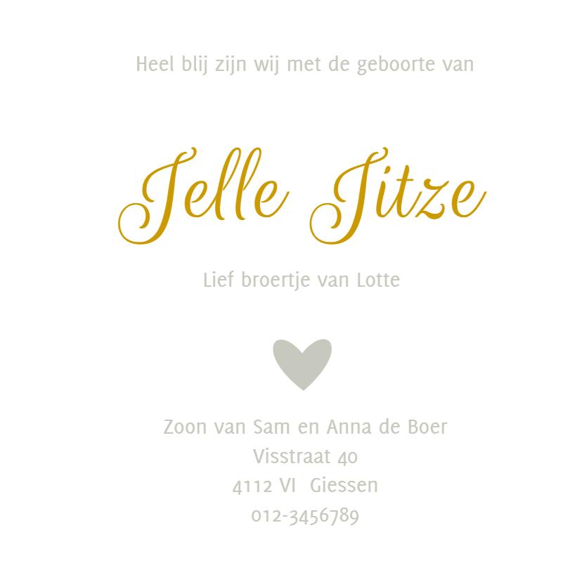 Geboortekaartje Jelle - HM 3