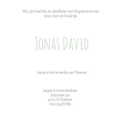 Geboortekaartje Jonas groen 3