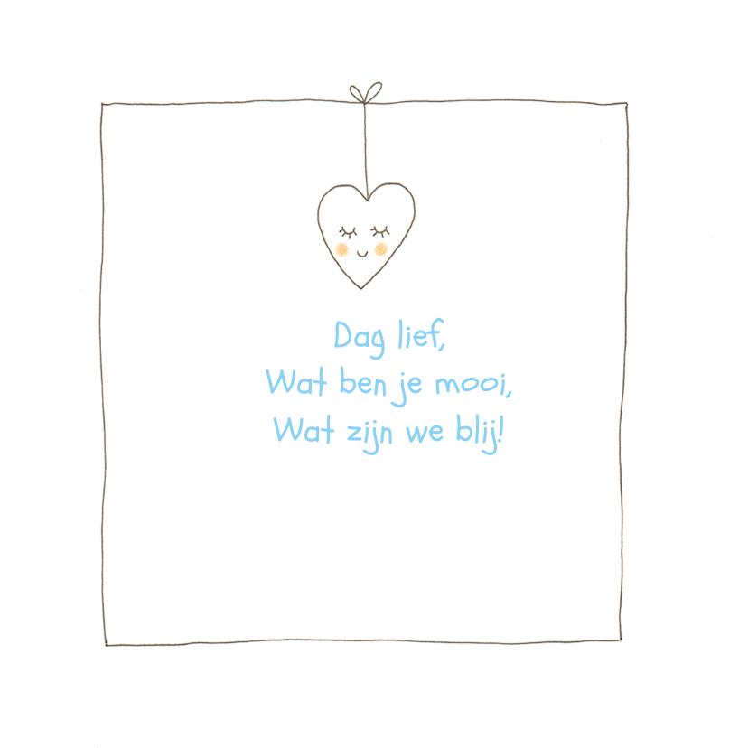 geboortekaartje jongen 3 hartjes 2