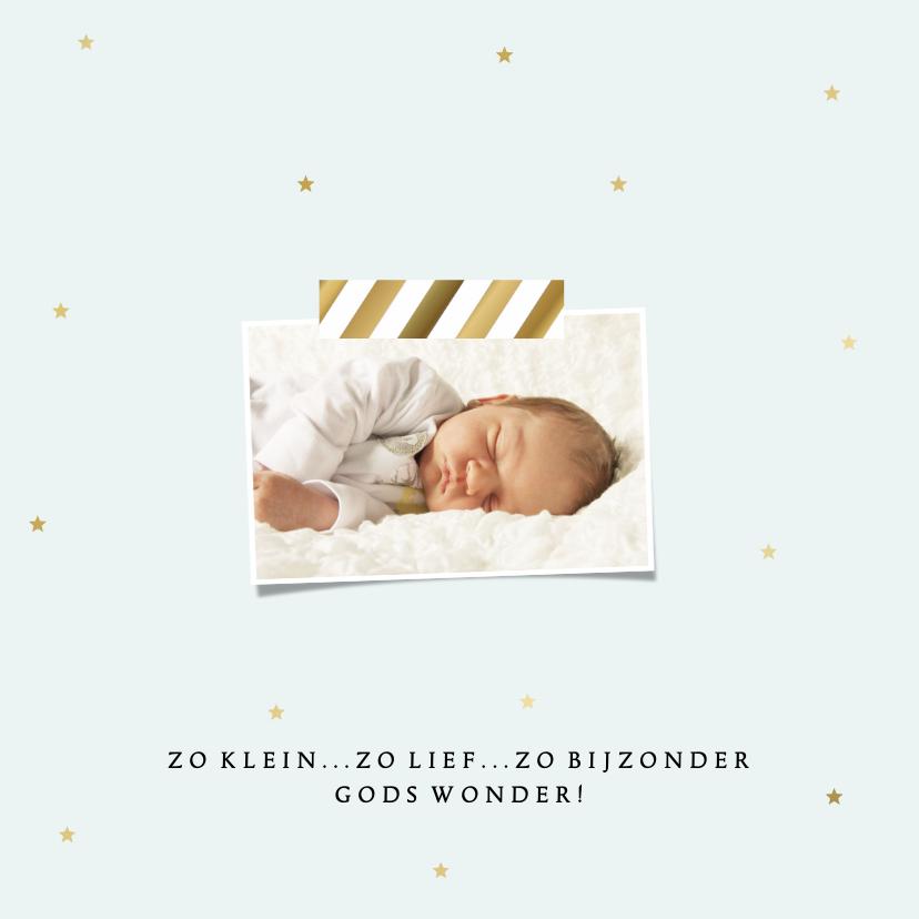 Geboortekaartje Jongen 4, aanpasbare kleur - WW 2