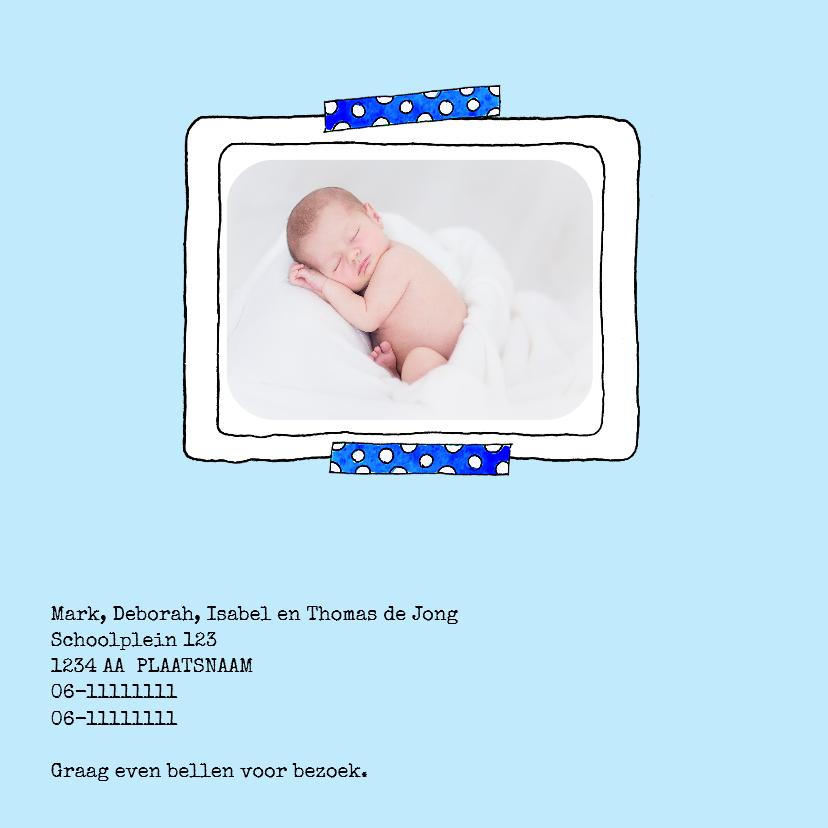 Geboortekaartje jongen babywiegje blauw - SD 2