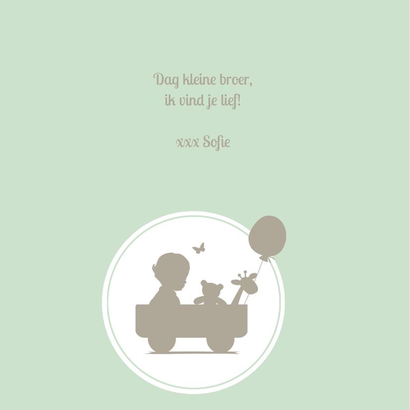 Geboortekaartje jongen silhouet 2