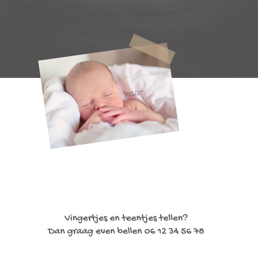 Geboortekaartje Joris krijt 2