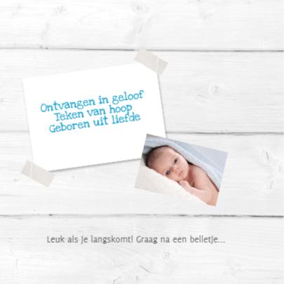 Geboortekaartje Jurre foto-stempel SS 2