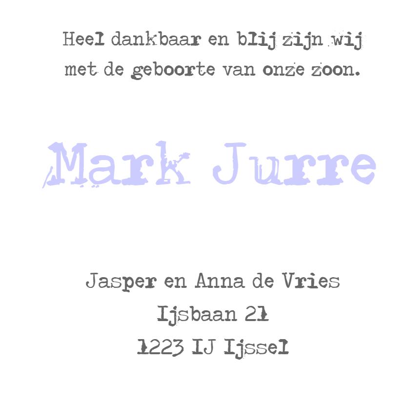 Geboortekaartje Jurre 3