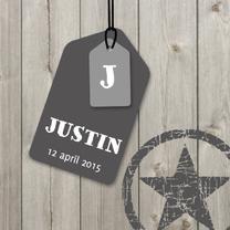 Geboortekaartjes - Geboortekaartje Justin LS