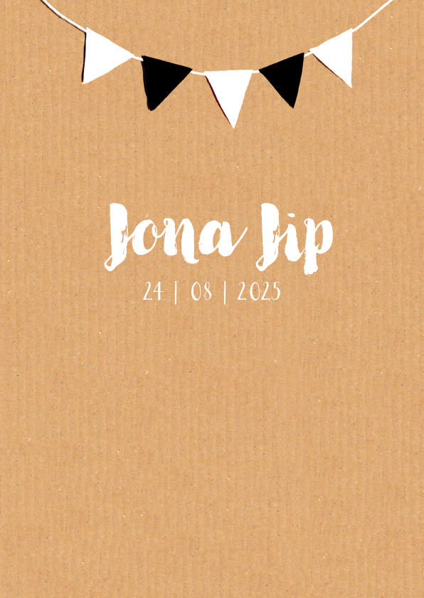 Geboortekaartje karton Jona 3