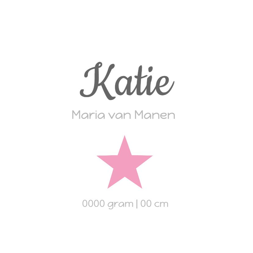 Geboortekaartje Katie LS 3