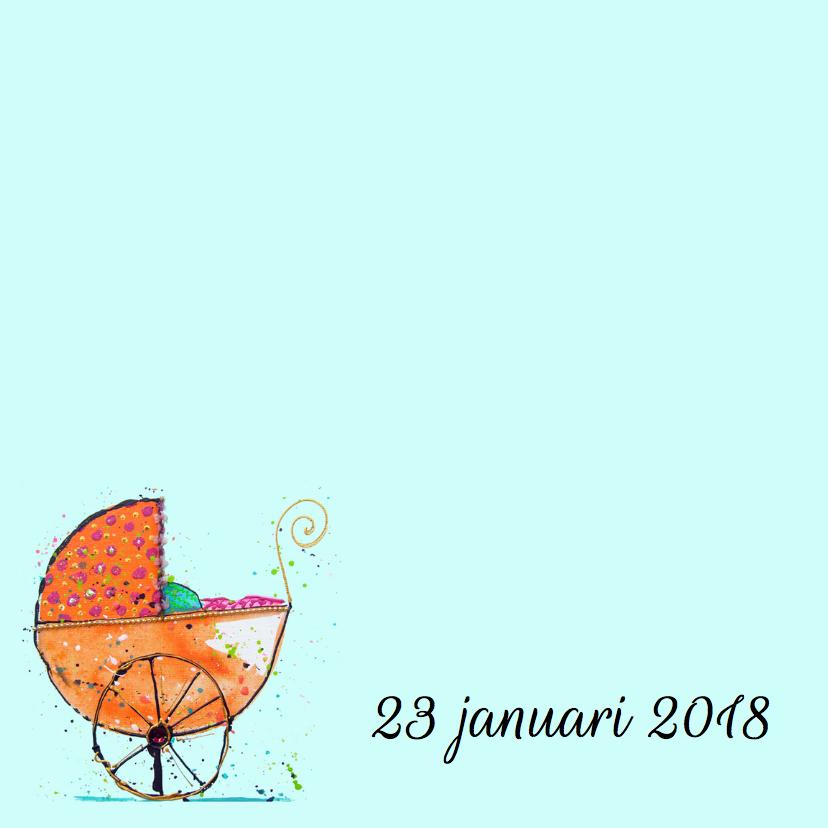 geboortekaartje kinderwagen oud 2