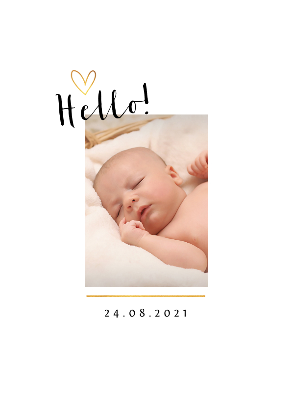 Geboortekaartje klassiek voor jongen of meisje met foto 2