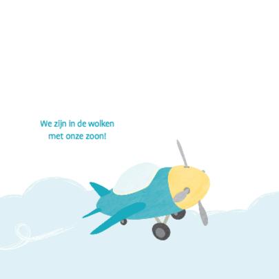 Geboortekaartje klein vliegtuig 2
