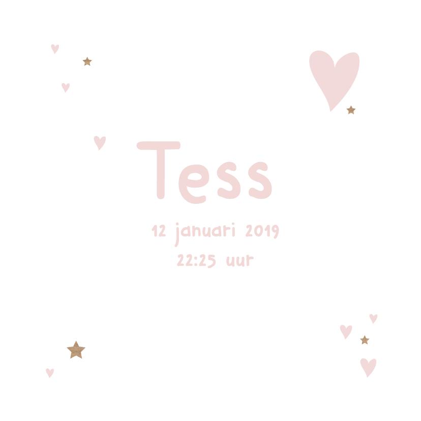 Geboortekaartje kraft Tess 3