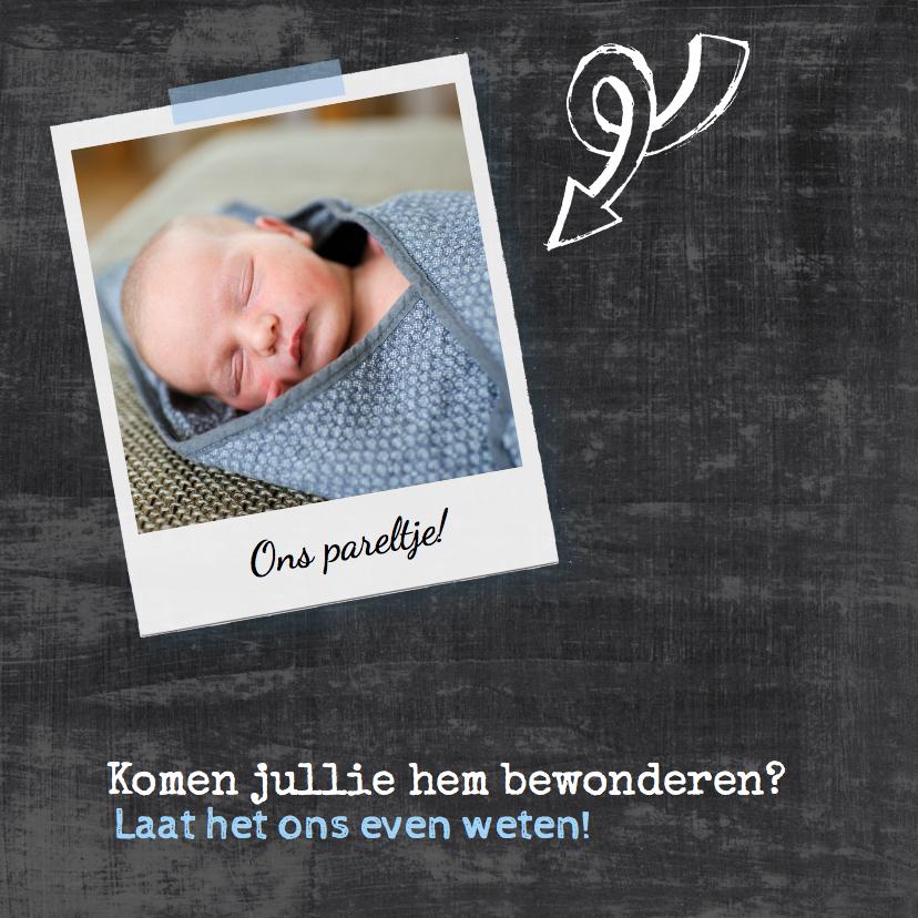 Geboortekaartje krijt chalkboard 2