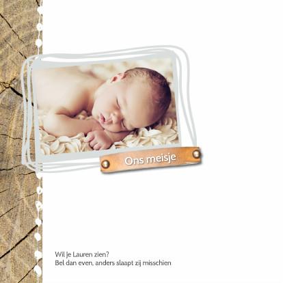 Geboortekaartje Lauren Sterren 2